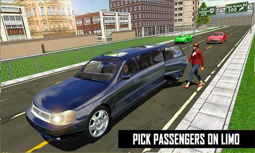 Big City Limo Car Driving Simulator : Taxi Driving 8 تصوير الشاشة