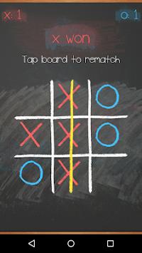 Tic Tac Toe on blackboard 4 تصوير الشاشة