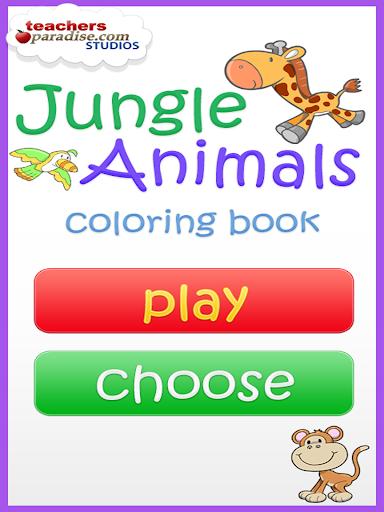 Jungle Animals Coloring Book screenshot 10