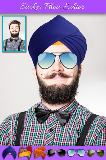 Funny Face and Turban Stickers Photo Editor screenshot 5