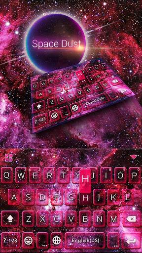 Spacedust Keyboard Theme screenshot 2