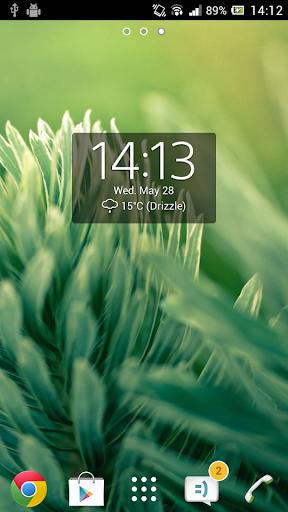 Digital Clock Widget Xperia screenshot 4