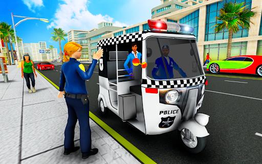 Police Tuk Tuk Auto Rickshaw Driving Game 2020 screenshot 5