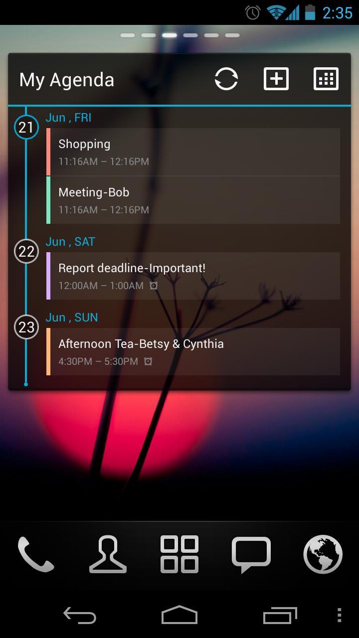 GO Calendar Widget screenshot 5
