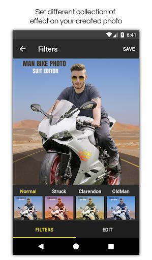 Man Bike Rider Photo Editor screenshot 8