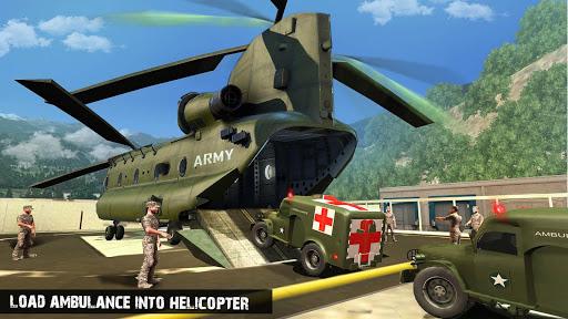 US Army Ambulance Driving Game : Transport Games 2 تصوير الشاشة