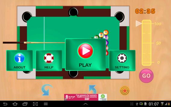 Snooker game screenshot 2
