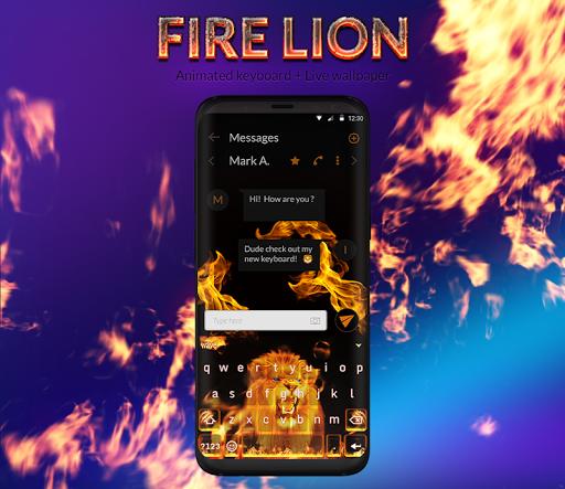 Fire Lion Animated Keyboard + Live Wallpaper screenshot 1