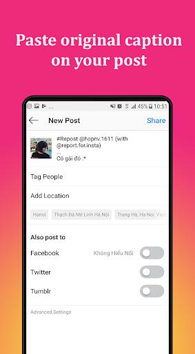 Repost for Instagram 2021 - Save & Repost IG 2021 screenshot 4