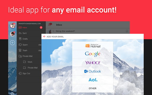 myMail: Email App for Gmail, Hotmail & AOL E-Mail 7 تصوير الشاشة