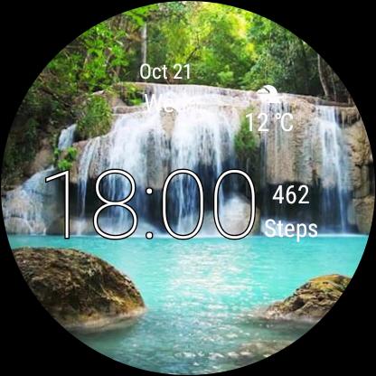 Watch Face Waterfall Wallpaper- Wear OS Smartwatch screenshot 10