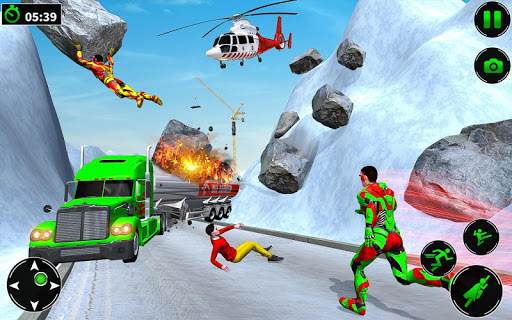 Light Robot Superhero Rescue Mission screenshot 18