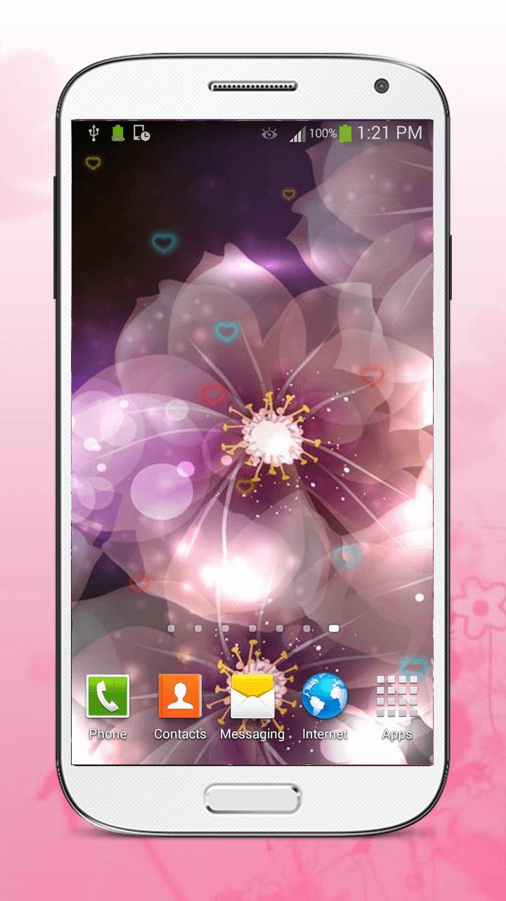Luminous Flower Live Wallpaper screenshot 1