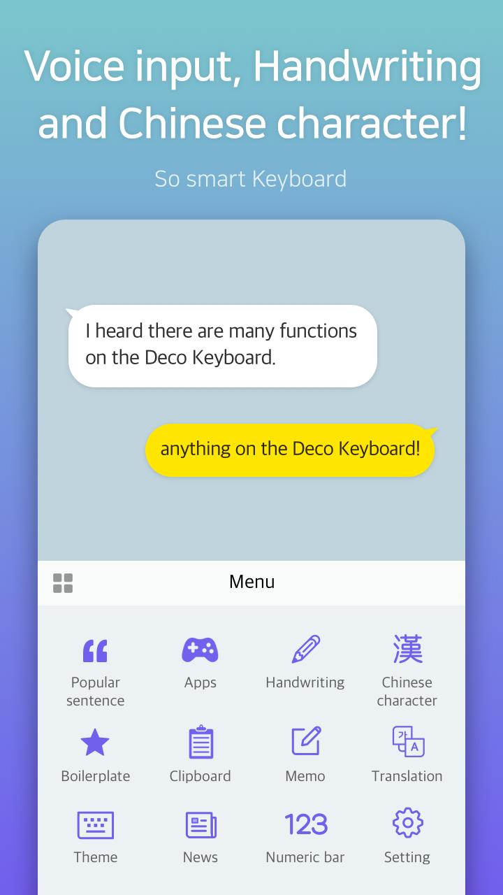 Deco Keyboard - Phone Deco, wallpapers, theme screenshot 10