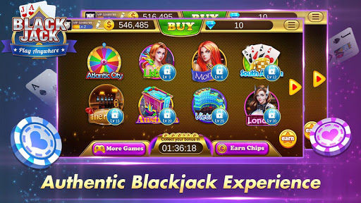 Blackjack 21 Free - Casino Black Jack Trainer Game 6 تصوير الشاشة