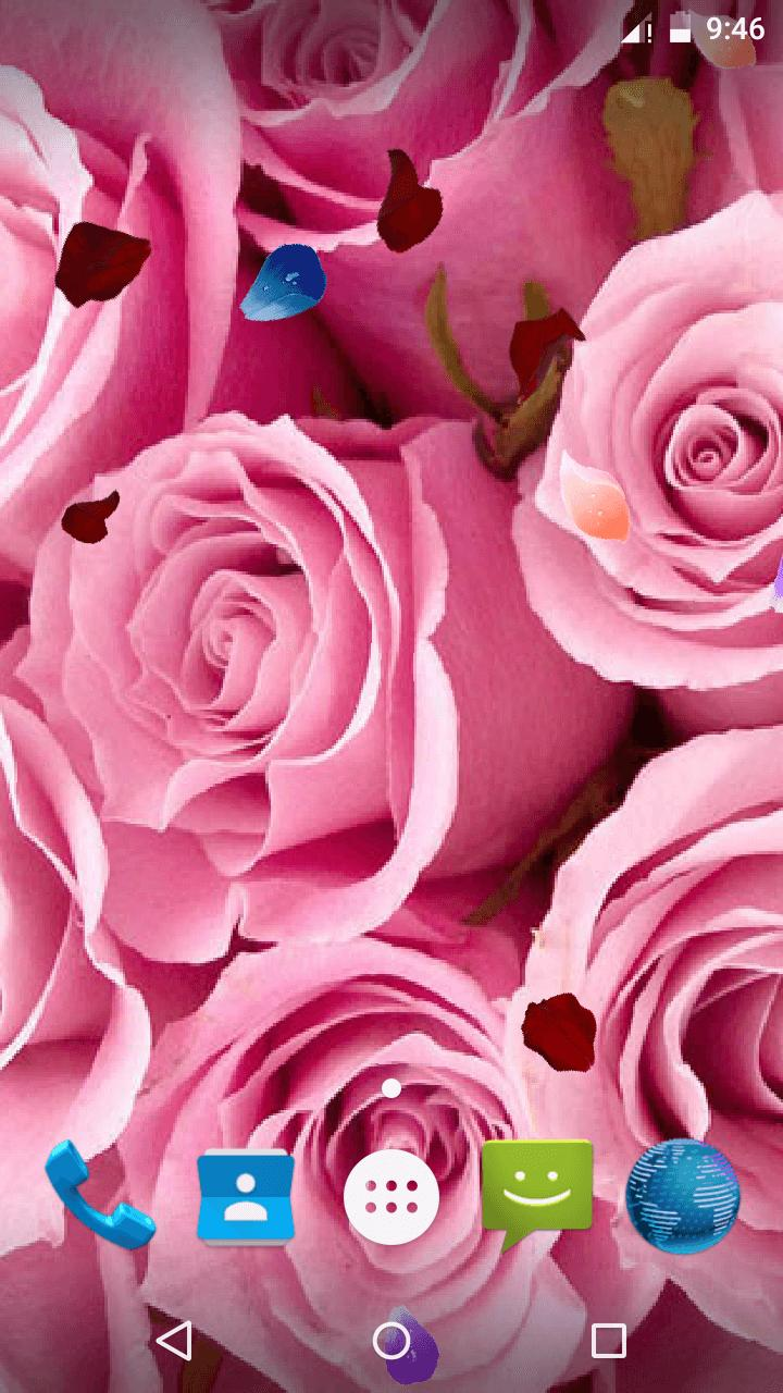 Magic Touch - Pink Rose Flower LWP скриншот 5
