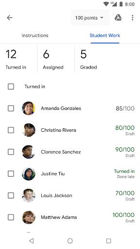 Google Classroom screenshot 4