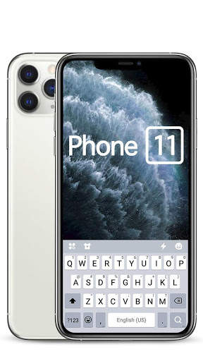Silver Phone 11 Pro Keyboard Theme screenshot 3