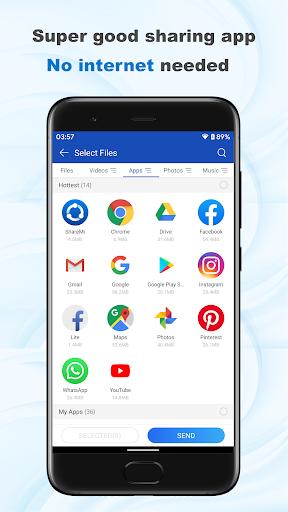 ShareMi - स्थानांतरण, शेयर, डेटा कॉपी, फोन क्लोन स्क्रीनशॉट 1