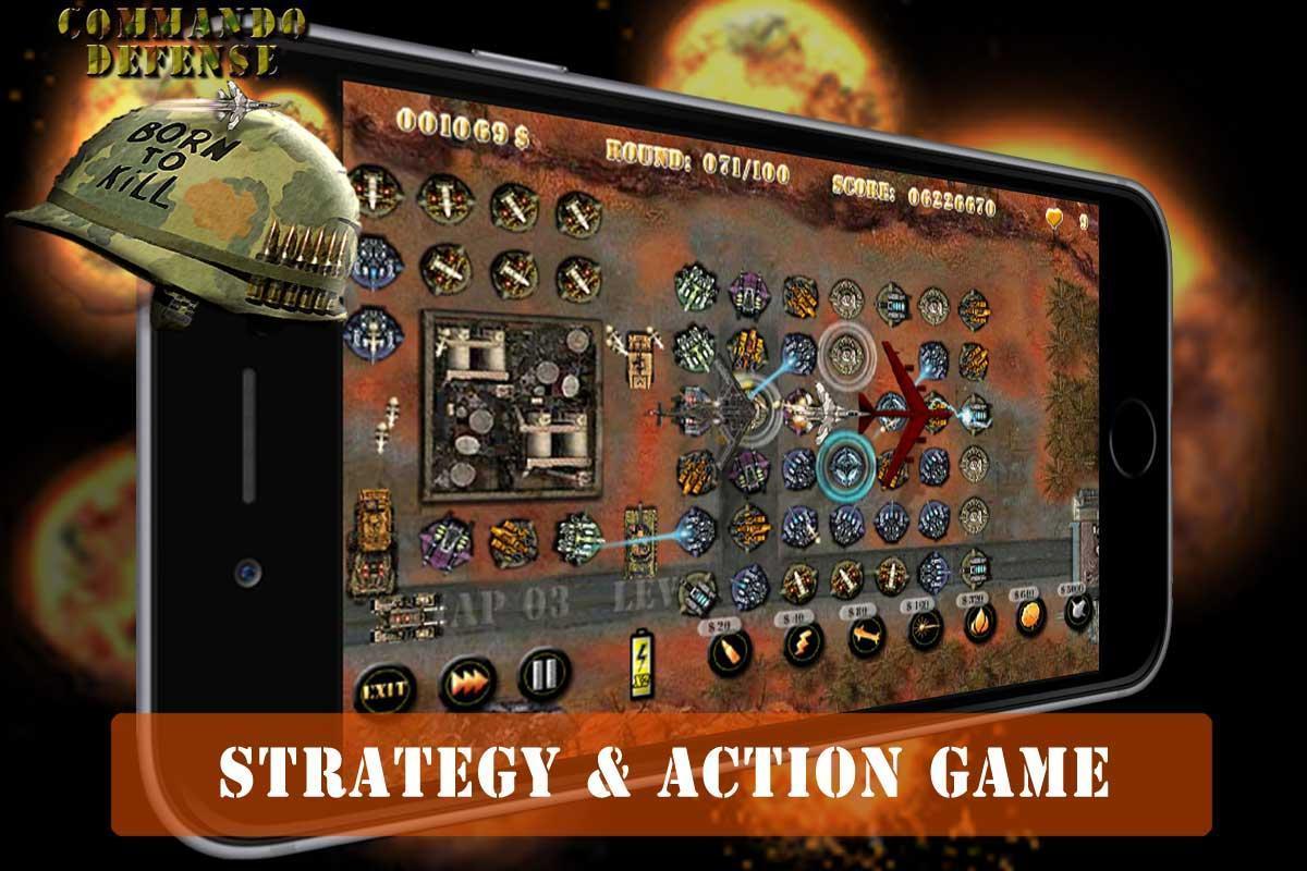Commando Tower Defense screenshot 1