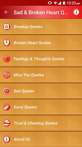 Sad & Broken Heart Pain Status screenshot 1