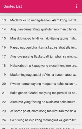 Pinoy Love Quotes 3 تصوير الشاشة
