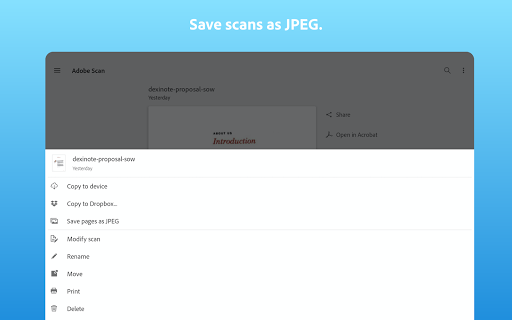 Adobe Scan: PDF Scanner with OCR, PDF Creator 10 تصوير الشاشة