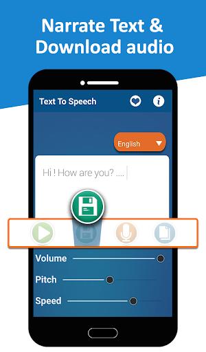 Text to Speech (TTS) - Text Reader & Converter 2 تصوير الشاشة