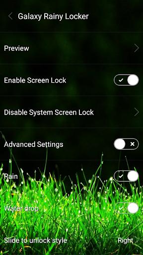 Galaxy rainy lockscreen screenshot 1