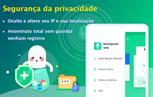 NetCapsule VPN VPN grátis, VPN rápida, Desbloquear screenshot 10