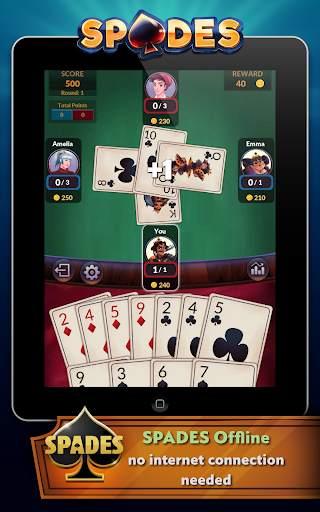 Spades - Offline Free Card Games screenshot 7