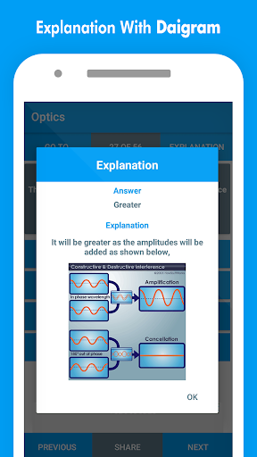 Physics MCQs with Answer and Explanations screenshot 6