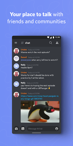 Discord - Talk, Video Chat & Hang Out with Friends 1 تصوير الشاشة