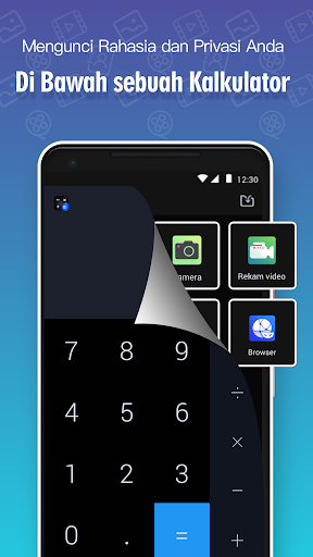 Kunci Kalkulator, Kunci foto dan vidio - HideX screenshot 1