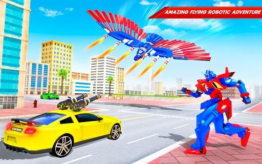 Flying Police Eagle Bike Robot Hero: Robot Games screenshot 11