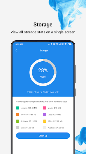 Mi File Manager - free and easily 1 تصوير الشاشة
