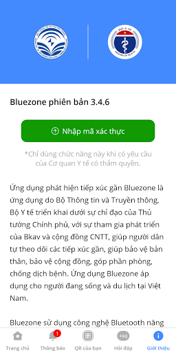 Bluezone - Phát hiện tiếp xúc screenshot 5
