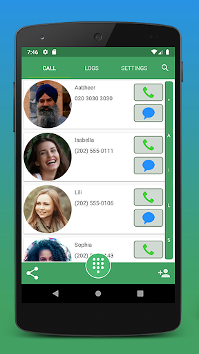 Contacts, Dialer and Phone by Facetocall screenshot 1