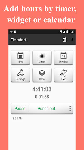 Timesheet - Time Card - Work Hours - Work Log screenshot 1