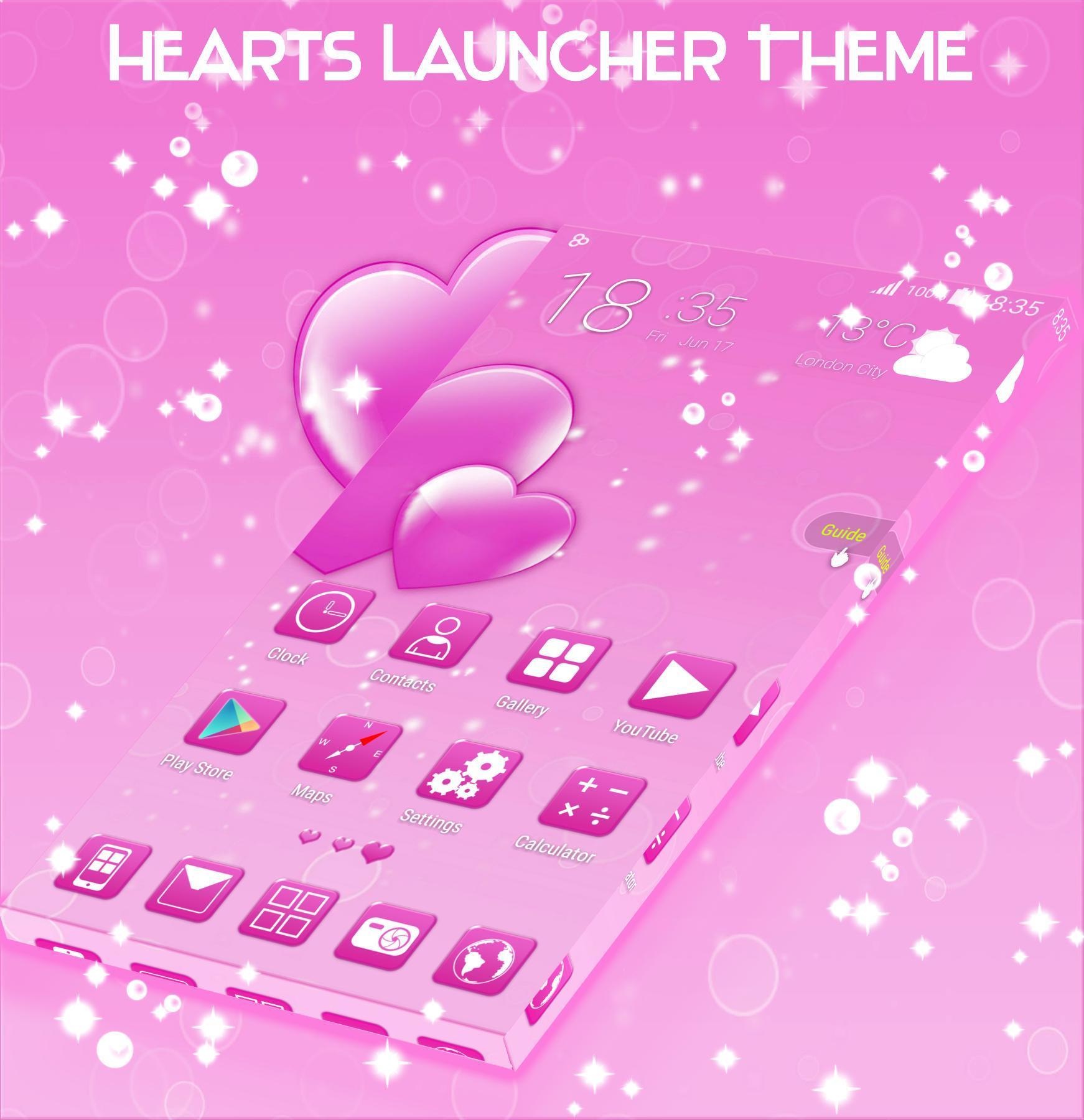 Hearts Launcher Theme screenshot 2