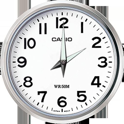 Clock save battery, time, alarm أيقونة
