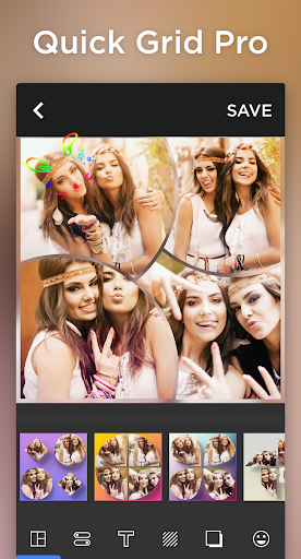 Photo Collage & Grid, Pic Collage Maker-Quick Grid 1 تصوير الشاشة