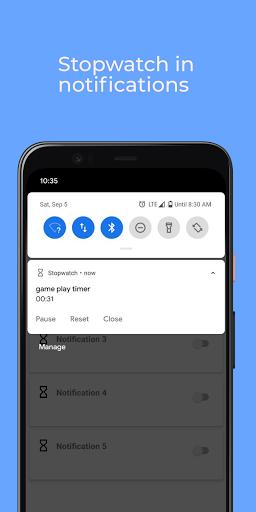 Stopwatch: floating multitasking timer screenshot 4