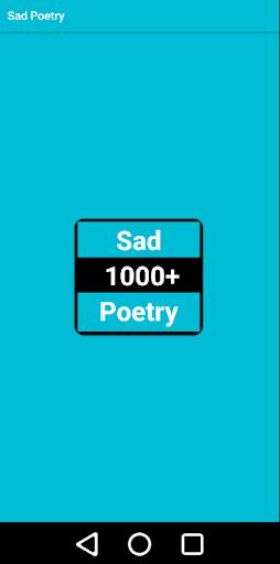 Sad Poetry - Urdu SMS स्क्रीनशॉट 1