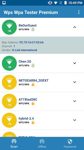 WIFI WPS WPA TESTER screenshot 1
