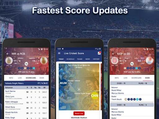 Live Score for IPL 2020 - Live Cricket Score 1 تصوير الشاشة