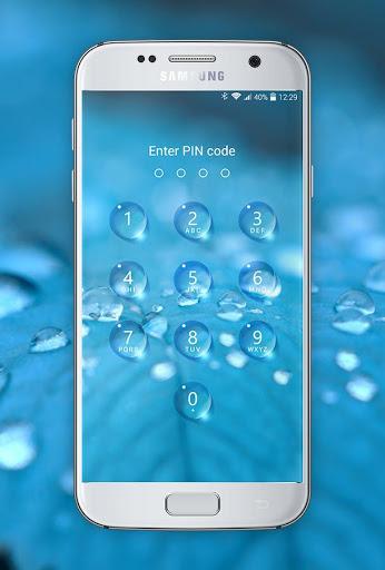 Lock screen - water droplets screenshot 6