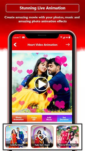 Heart Photo Effect Video Maker With Music screenshot 1