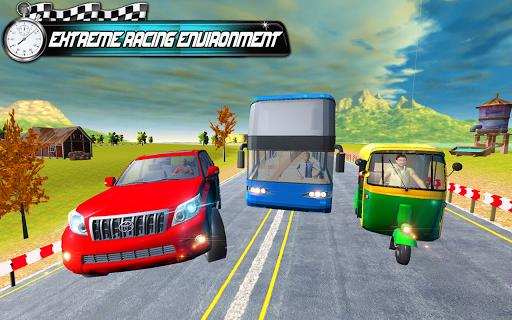 Prado vs Tuk Tuk Auto Rickshaw Racing screenshot 2