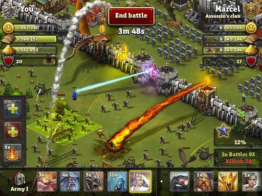 Throne Rush 1 تصوير الشاشة